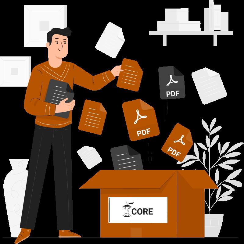CORE harvests PDF documents